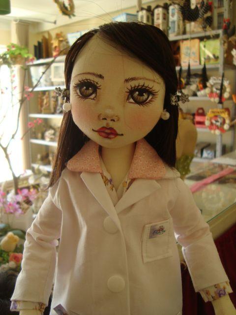 Bonecas de pano. Médicos ou enfermeiros. Terapeuta Soraia Flores!