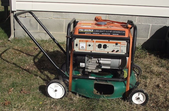 Portable Generator Enclosure On Wheels : Diy portable generator cart if your doesn t