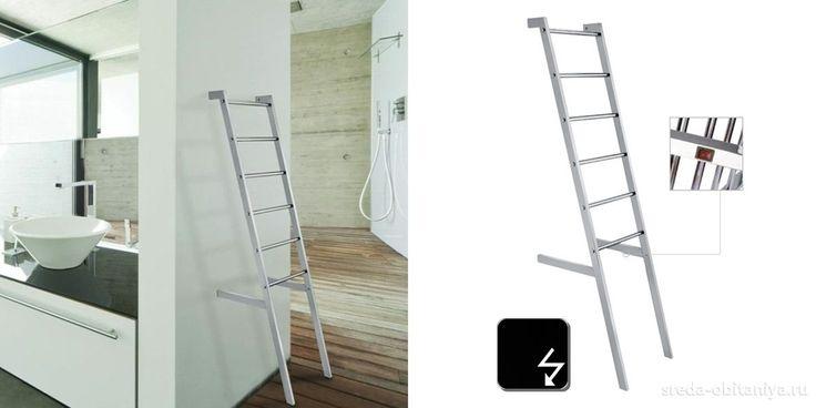 Полотенцесушитель электр. стационарный в форме лестницы Margaroli SCALA черный полиров.