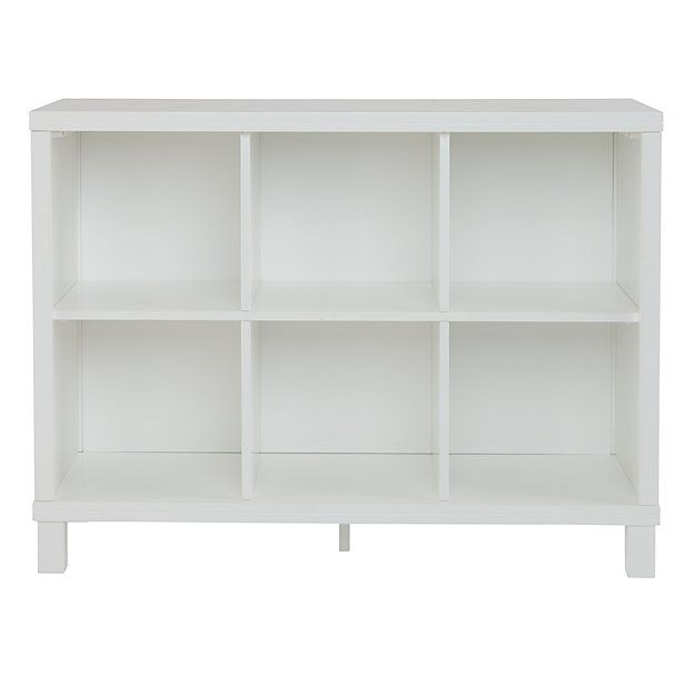 """Cubic Wide Bookcase (6-Cube) $299  Width: 40.5""""    Depth: 14.25""""    Height: 30.25"""""""