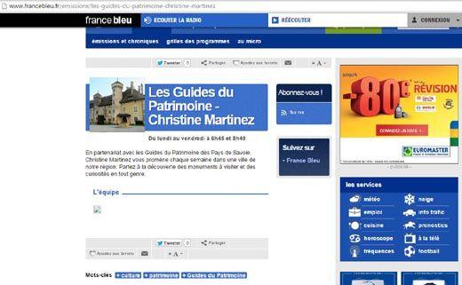 Chronique : les @GuidesGPPS sur France Bleu Pays de Savoie 6h45 et 8h40  http://www.gpps.fr/Guides-du-Patrimoine-des-Pays-de-Savoie/Actualites/Vos-GuidesGPPS-sur-France-Bleu-Pays-de-Savoie
