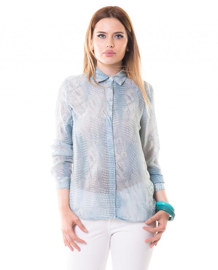 Karaca Bayan Casual Gömlek - Mavi #womensfashion #shirt #gomlek #karaca #ciftgeyikkaraca www.karaca.com.tr