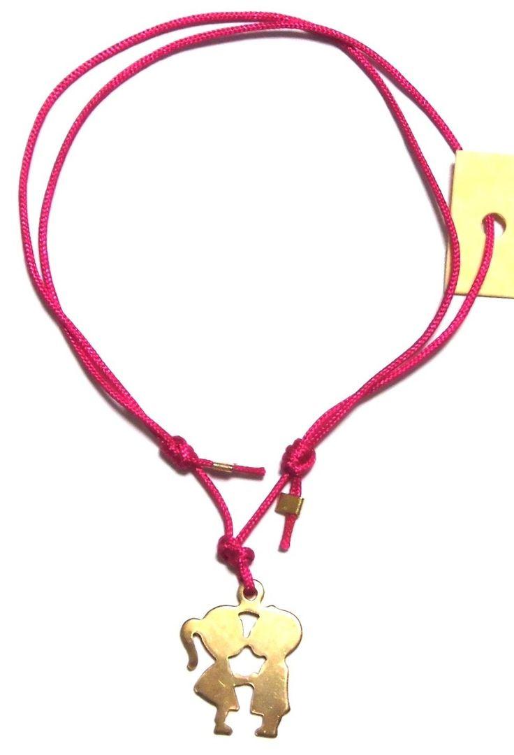 danielasigurdjewelry ( ダニエラ シグルド ジュエリー ) ロンドン ファッション キスシーン カップル ブレスレット kissing couple bracelet コットン コード ゴールド 恋人 フレンドシップ コットンコード アクセサリー 海外 ブランド