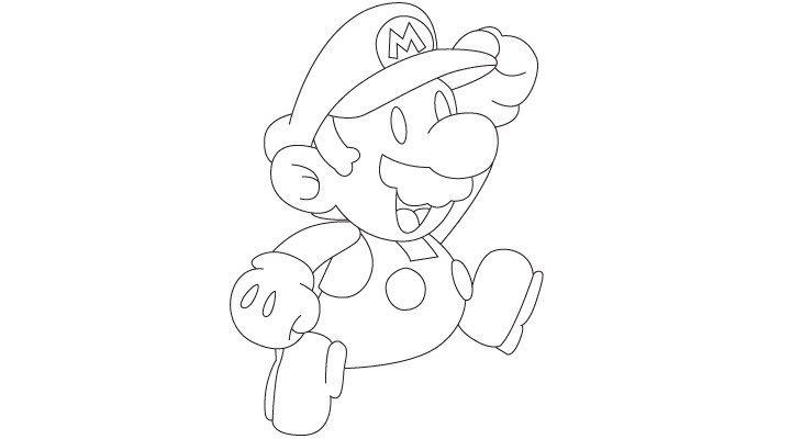 Comment dessiner Mario - http://www.dessein-de-dessin.com/comment-dessiner-mario/