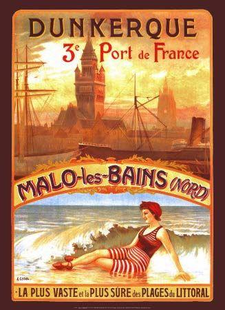 Dunkerque Port de France Malo les Bains Giclee Print