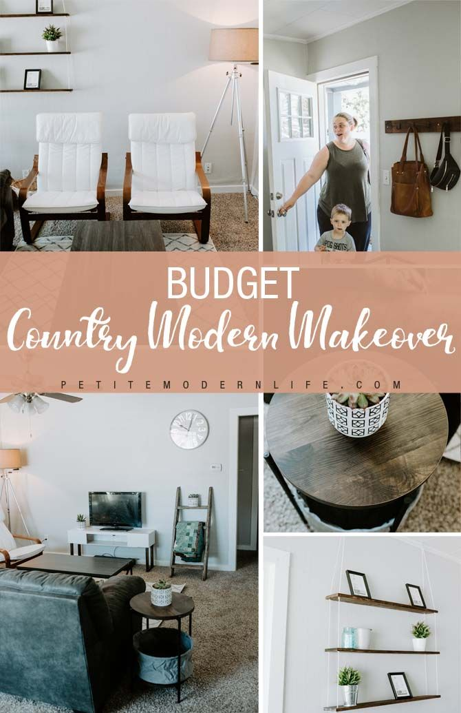 Budget Country Modern Living Room Makeover Petite Modern Life Living Room Makeover Small Living Room Layout Living Room Makeovers On A Budget #small #living #room #makeovers