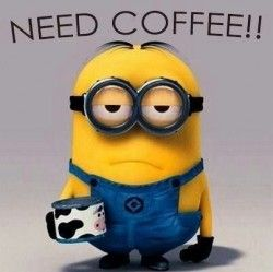 Image result for minion need coffee transparent