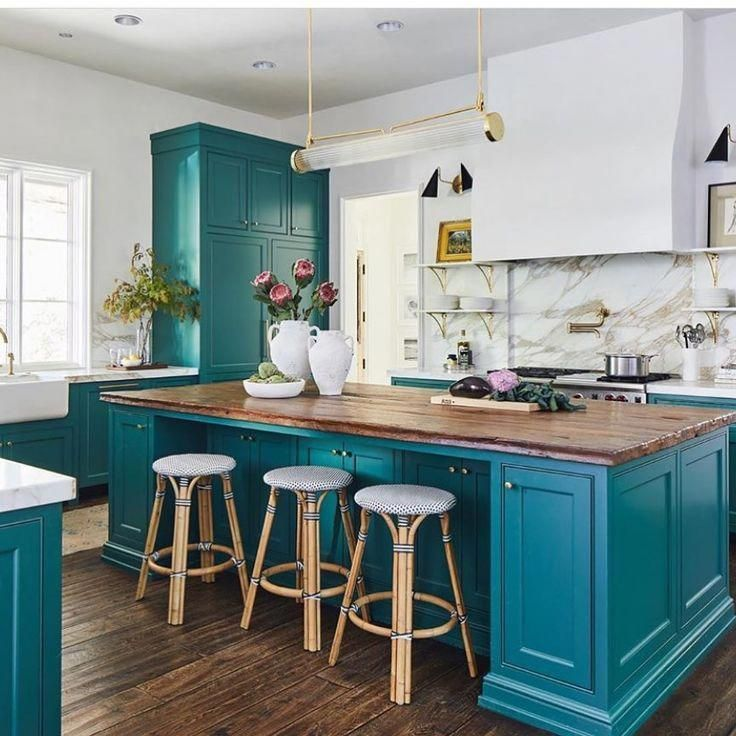 Riviera Backless Bar Counter Stools Eclectic Kitchen Teal Kitchen Cabinets Kitchen Design