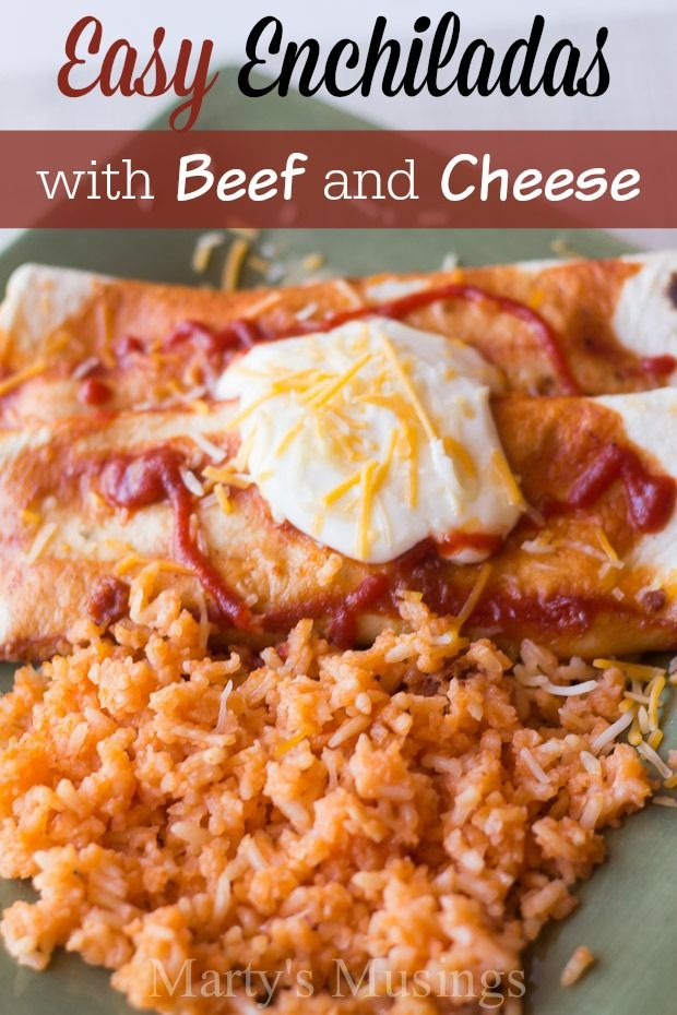"It is so easy to cook tasty Mexican food with all the recipe details from Marty's Musings on how to make enchiladas with beef and cheese. No more reasons to eat out and you can answer the question ""what's for dinner tonight!"""