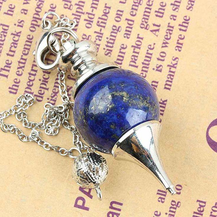SUNYIK Lapis Lazuli Edelsteen Bal Healing Wichelroedelopen Reiki Chakra Charm Pendulum Keten