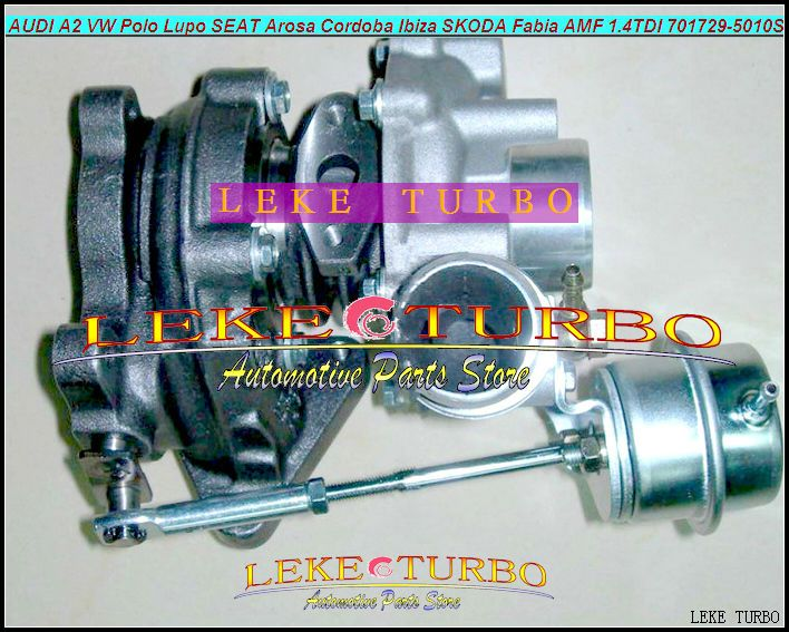 Free Ship GT1544S 701729-5006S 701729-5010S Turbo Turbocharger For AUDI A2 VW Polo SEAT Arosa Cordoba SKODA Fabia AMF 1.4L TDI
