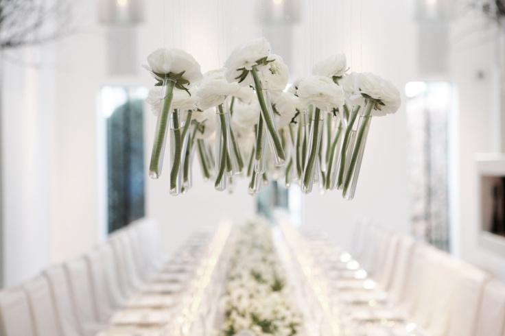 White Warm Winter Dinner Flower Decoration by Wolterinck Event Decoration