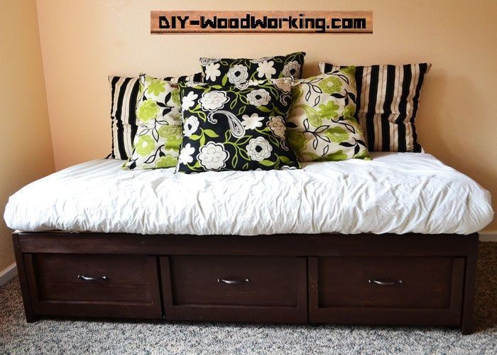 Bed Plan With Storage | Free Bed Plans | DIY-WoodWorking.com