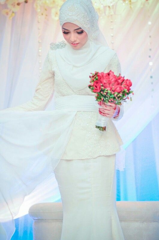 Broken white wedding dress