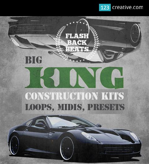 ► BIG KING CONSTRUCTION KIT - Loops, Midi, One-shots, Presets for Vanguard, DirectWave, Gladiator, Nexus synthesizer. Hip Hop, RnB, Trap, EDM music production. Consists of pounding basslines, smoking synths, punchy drums, epic brass, smooth strings, striking pianos, vocal shouts, FX. LEARN MORE: http://www.123creative.com/electronic-music-production-audio-samples-and-loops/1424-big-king-construction-kit-loops-midi-one-shots-presets-vanguard-directwave-gladiator-nexus.html