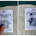 Avant de partir en voyage, j'ai expérimenté une nouvelle méthode pour faire du transfert sur tissu SANS papier transfert, en utilisant du...
