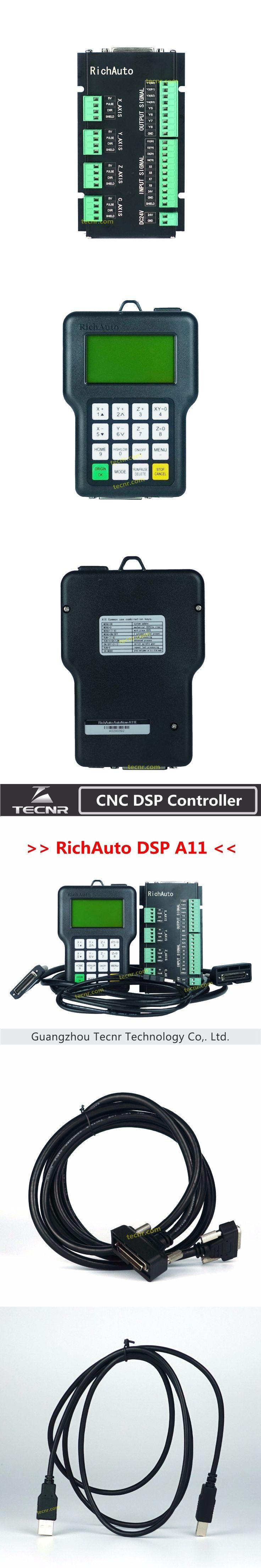 RichAuto DSP A11 CNC controller A11S A11E 3 axis controller for cnc router better than DSP 0501 controller