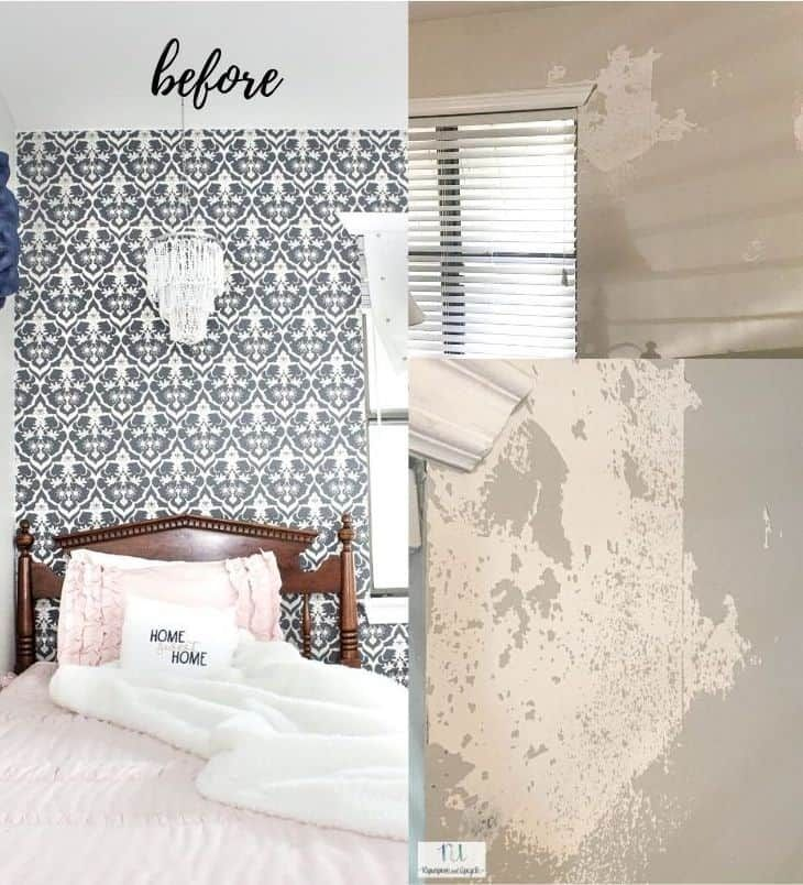 Peel And Stick Wallpaper Does It Damage Paint When Removed Upcycle Home Peel And Stick Wallpaper Diy Projects On A Budget