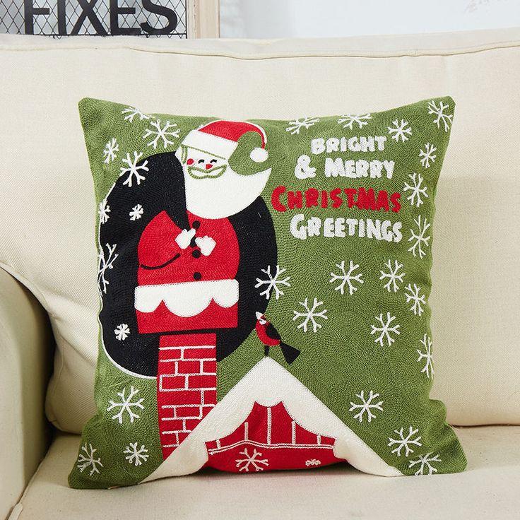 """$0.1 18"""" Christmas Sofa Bed Cushion Cover Home Car Decor Waist Throw Pillowcase Sham"""