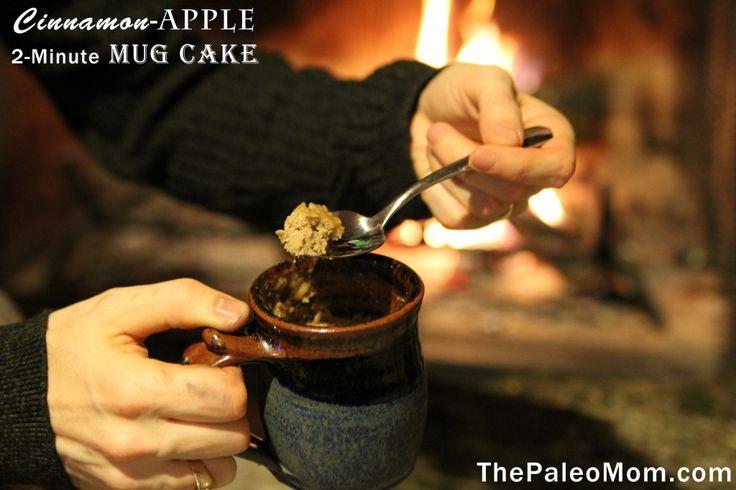 Cinnamon-Apple 2-Minute Mug Cake | The Paleo Mom