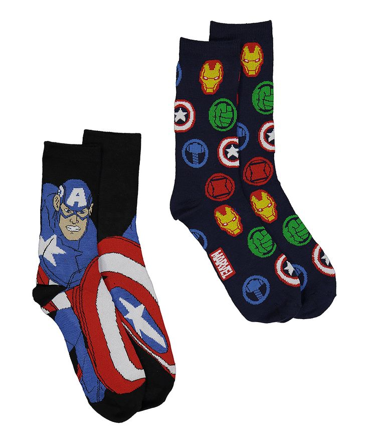 Captain America & Avengers Two-Pair Socks Set