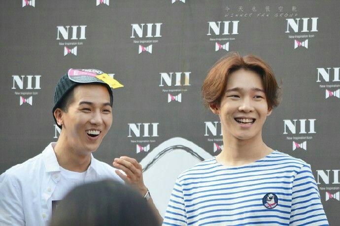 Mino and Taehyun.
