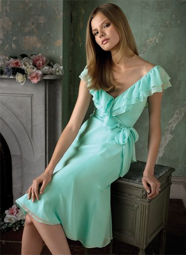 aqua chiffon dressCelebrities Dresses, Summer Dresses, Colors, Shorts Bridesmaid Dresses, Brides Maid Dresses, Bridesmaid Gowns, Chiffon Dresses, Chiffon Bridesmaid Dresses, Ruffles