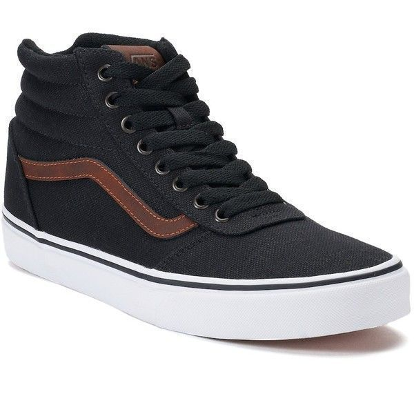 Vans Ward Hi Men's Skate Shoes ($70) ❤ liked on Polyvore featuring men's fashion, men's shoes, men's sneakers, black, mens black high top sneakers, mens lace up shoes, mens black high tops, mens black lace up shoes and mens suede shoes #hightopsneakers #sneakersvans