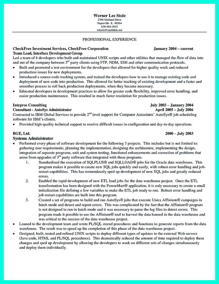 nice Computer Programmer Resume Examples to Impress