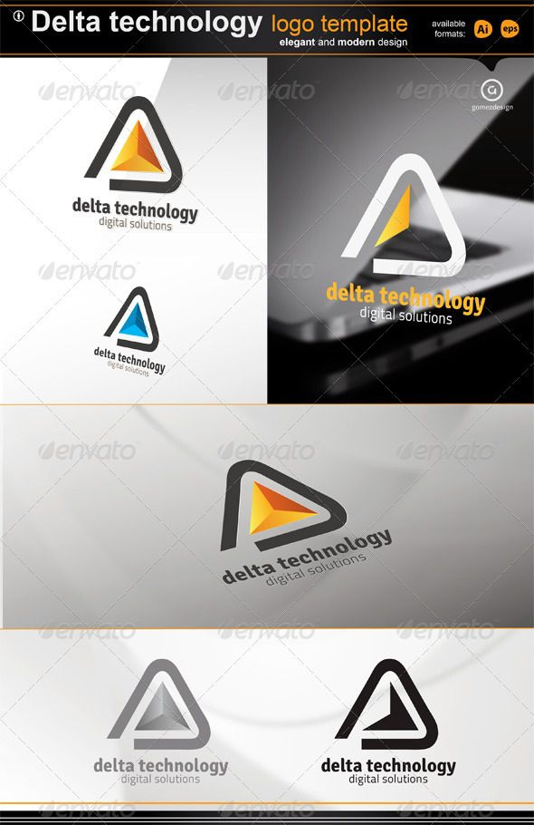 Delta Technology - Logo Design Template Vector #logotype Download it here: http://graphicriver.net/item/delta-technology-logo/1942788?s_rank=298?ref=nexion
