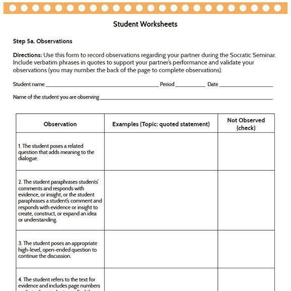 16 best Socratic Circles images on Pinterest Circles, English - seminar planning template