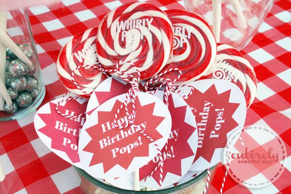 red and white bbq parties | Entirely Eventful Day: Red and White Retro Barbecue Party Ideas
