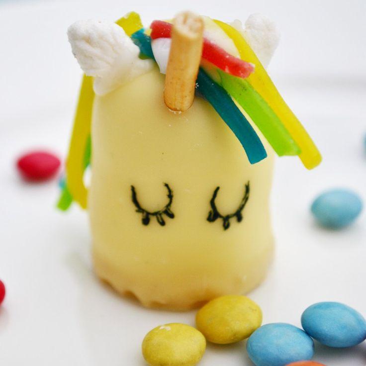 Super süße Einhornschokoküsse für den perfekten Einhorngeburtstag! Schnell und einfach. #einhorn #geburtstag #kindergeburtstag #unicorn