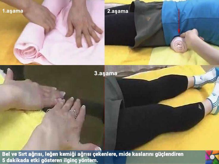 Bel ve Sırt ağrısı çekenlere 5 dakikada etki gösteren ilginç yöntemin 3 aşaması