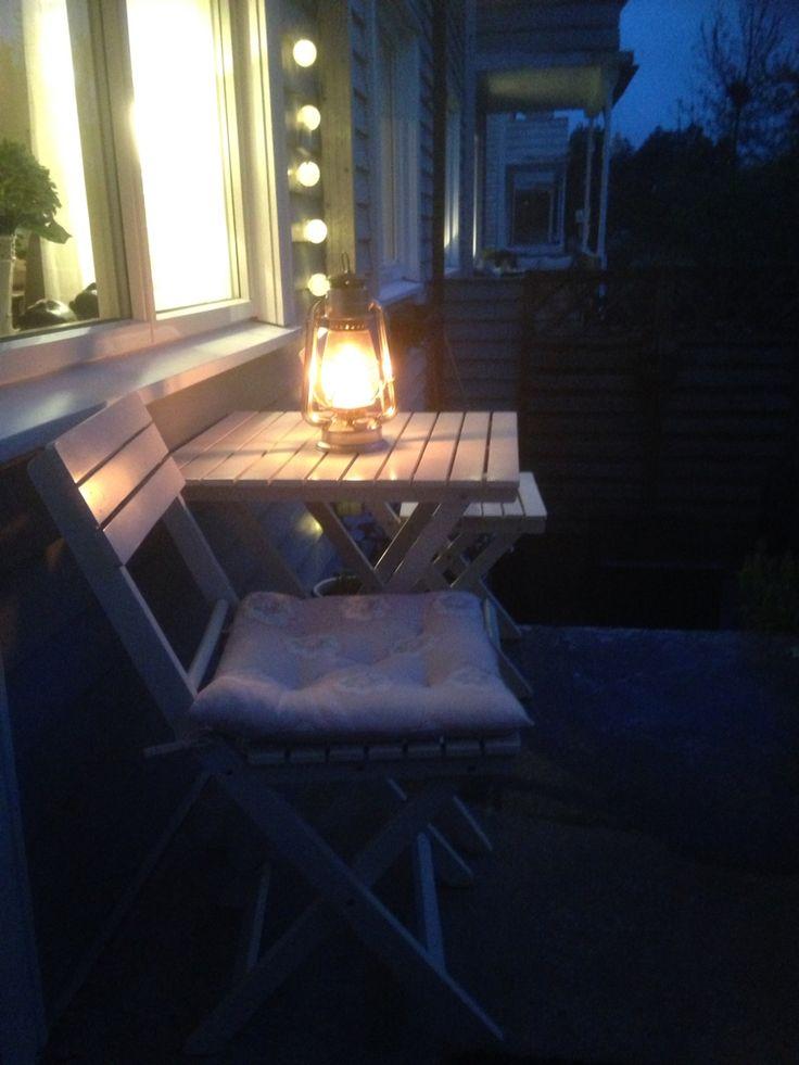 Levende lys på verandaen