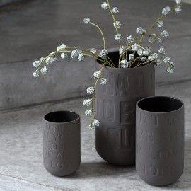 Love Song stor vase - Grå