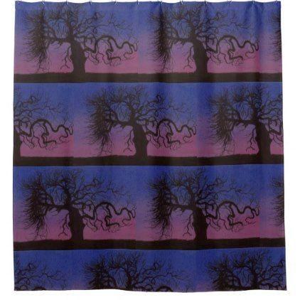 The Gnarly Tree Shower Curtain - shower curtains home decor custom idea personalize bathroom