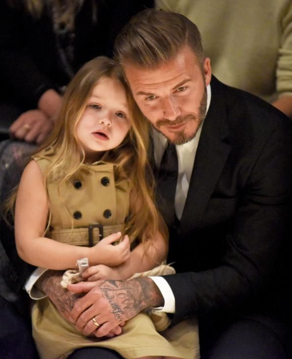 Aw! Harper and David Beckham are too cute together.