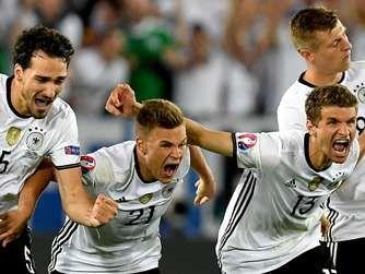EM 2016: Mit Schwung ins Halbfinale gegen Frankreich: Deutschland hat gegen Turniergastgeber meistens gut ausgesehen.
