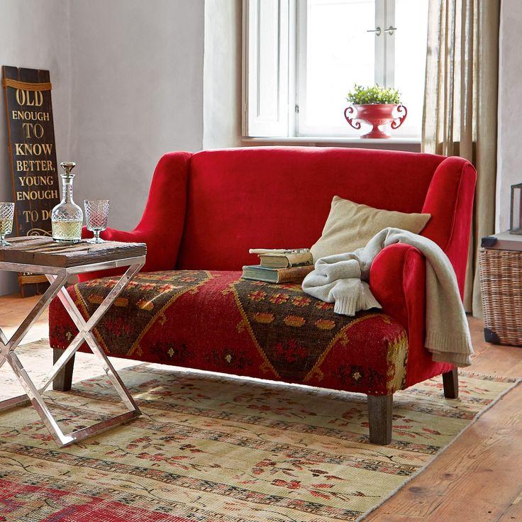 Die besten 25+ Rotes sofa Ideen auf Pinterest Roter sofa dekor - wohnzimmer ideen rote couch