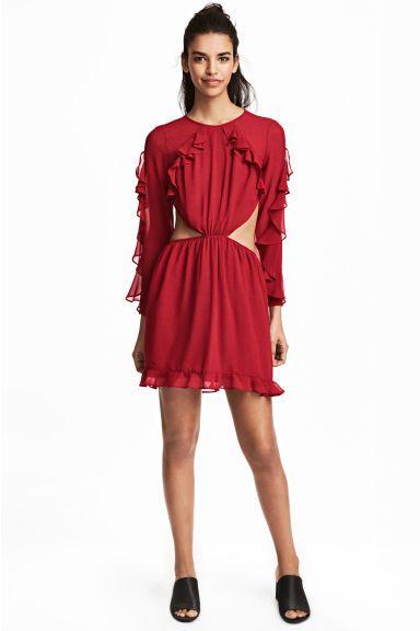 Sukienka z falbankami - Czerwony - ONA | H&M PL 1