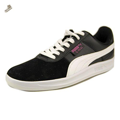 PUMA Women's G.Vilas Basic Sport Classic Sneaker, White/Black, 8 B US - Puma sneakers for women (*Amazon Partner-Link)