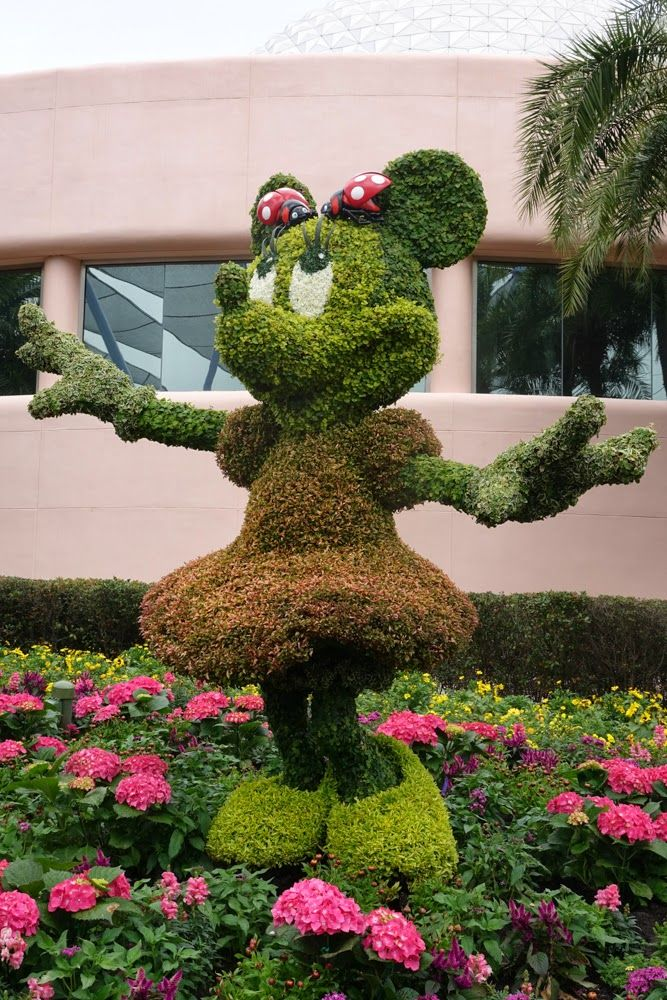 Mommy Frog loves this Minnie Mouse topiary from Epcot International Flower and Garden Festival!
