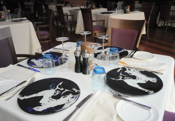 Table setting with Glass Studio  tableware designs for Marriott Riyadh