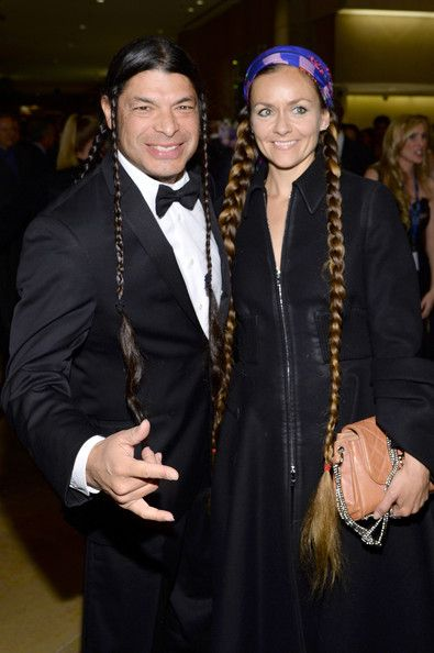 Robert Trujillo and Chloe Trujillo attend the 56th annual GRAMMY Awards Pre-GRAMMY Gala and Salute to Industry Icons honoring Lucian Grainge at The Beverly Hilton on January 25, 2014 in Beverly Hills, California.