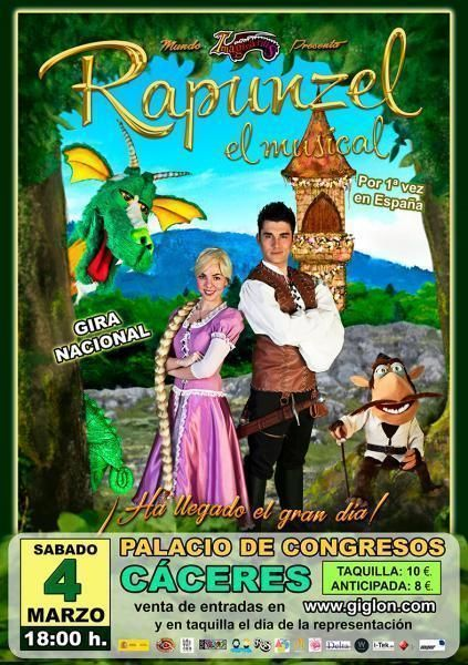Rapunzel El musical para niños en Cáceres http://www.apartamentoturisticomontesol.com/actividades-5/rapunzel-el-musical-para-ninos-100