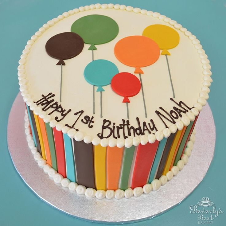 Best 25 fondant birthday cakes ideas on pinterest for Balloon cake decoration