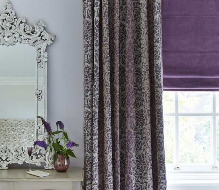 barock gardine in lila und grau im schlafzimmer - Schlafzimmer Lila Grau