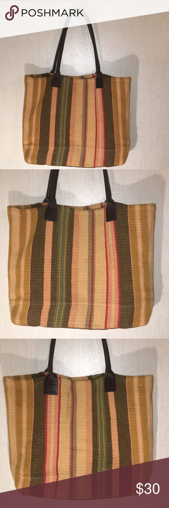 """DASH & ALBERT Large Multi-Colored Tote Bag DASH & ALBERT Large Multi-Colored Tote Bag Very good used condition no stains rips or holes  This is a great bag! It is about 21"""" across, about 17 1/2"""" in height, and about 3"""" in depth. Dash & Albert Bags Totes"""