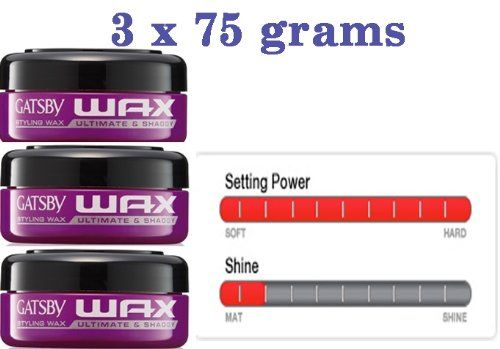 3 x 75 g  225 g GATSBY WAX HAIR STYLING ULTIMATE  SHAGGY GEL JAPAN STYLE >>> Click on the image for additional details.